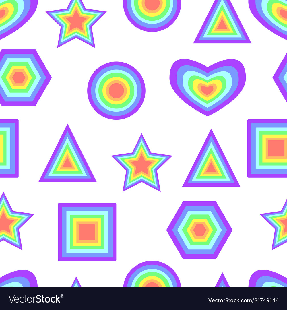 Rainbow pastel color abstract geometric figure