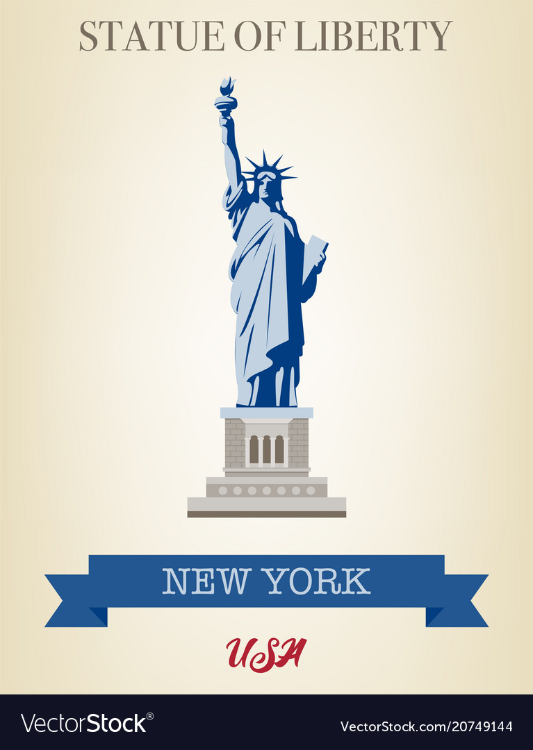 Statue of liberty world landmark american symbol