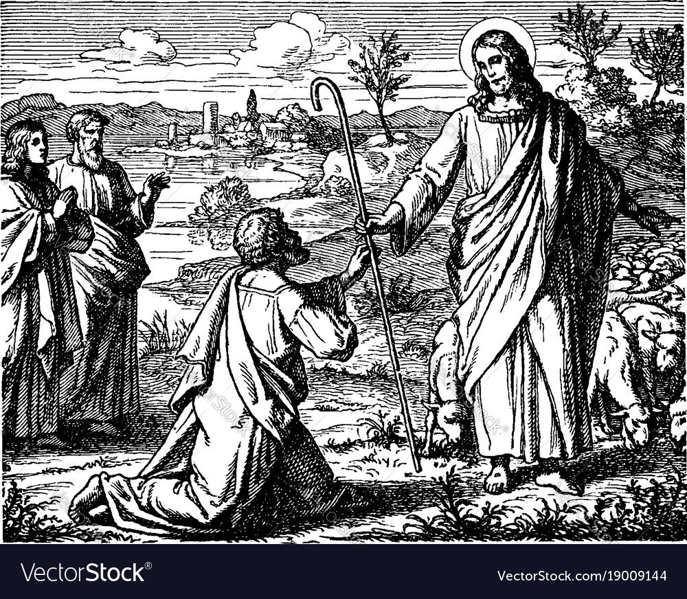 The restoration of peter by jesus after the