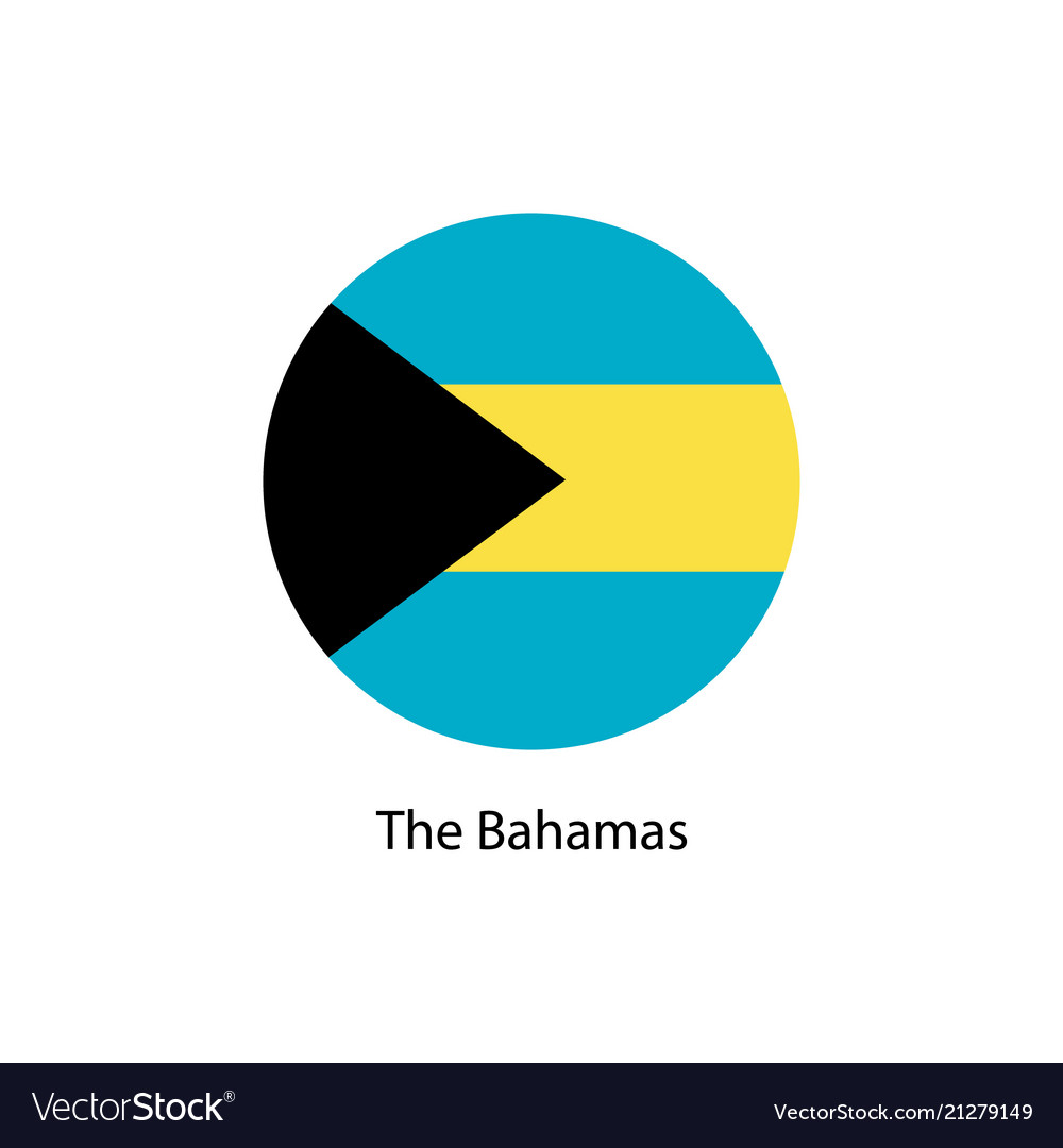 Bahamas flag in round button of icon
