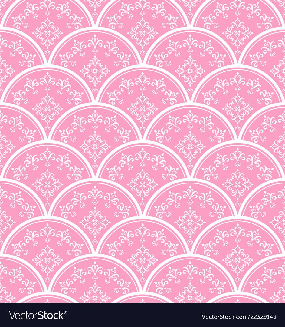 Beautiful pink damask background
