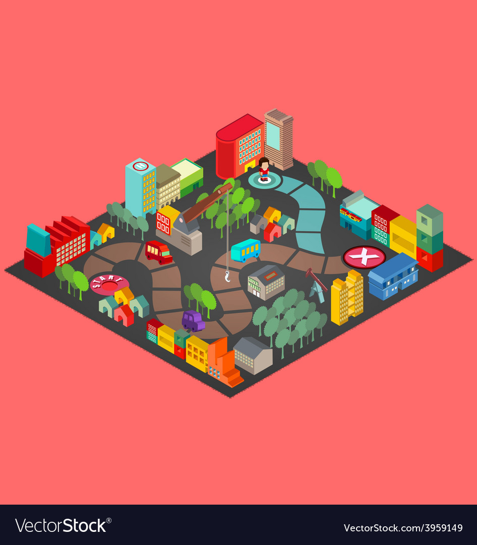 Board game with city building