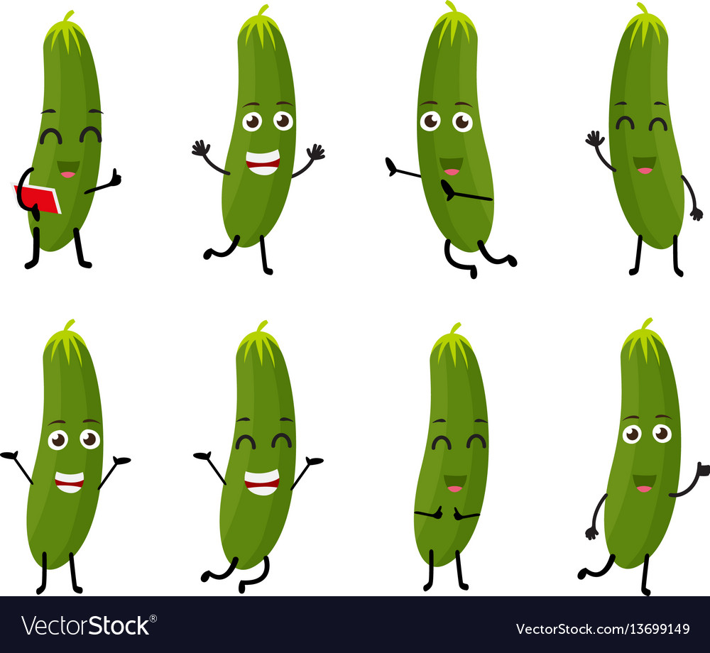 Cucumber cartoon character