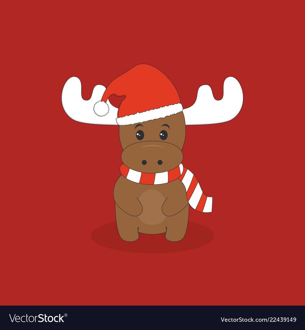 cute christmas deer royalty free vector image vectorstock vectorstock