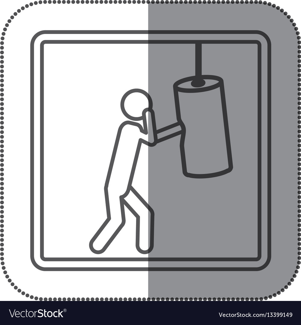 Figure person practicing boxing icon