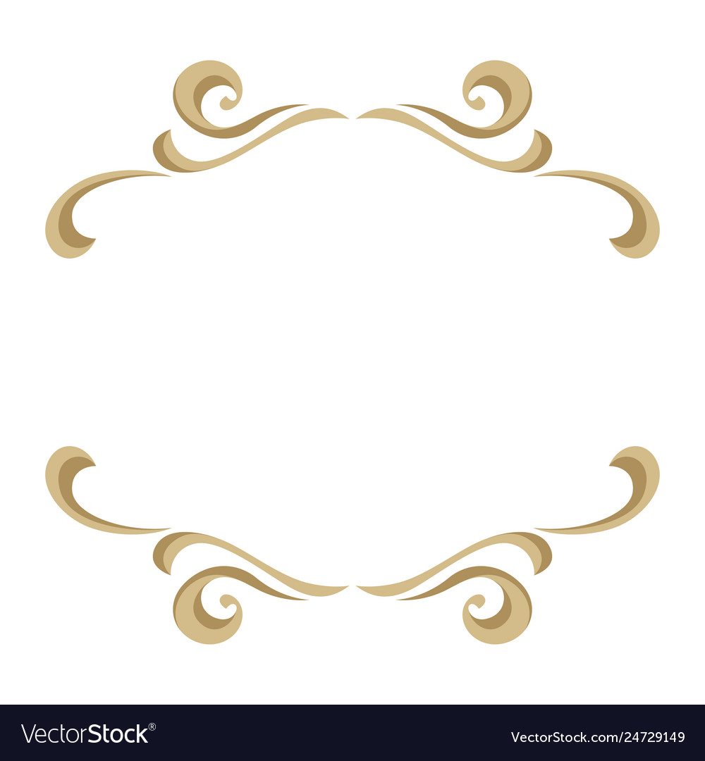 Frame with ornamental floral gold elements