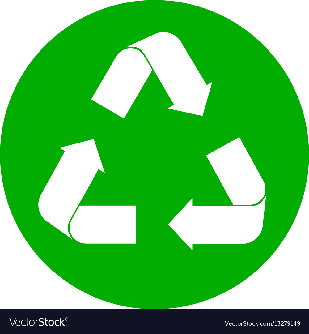 recycle sign on white royalty free vector image