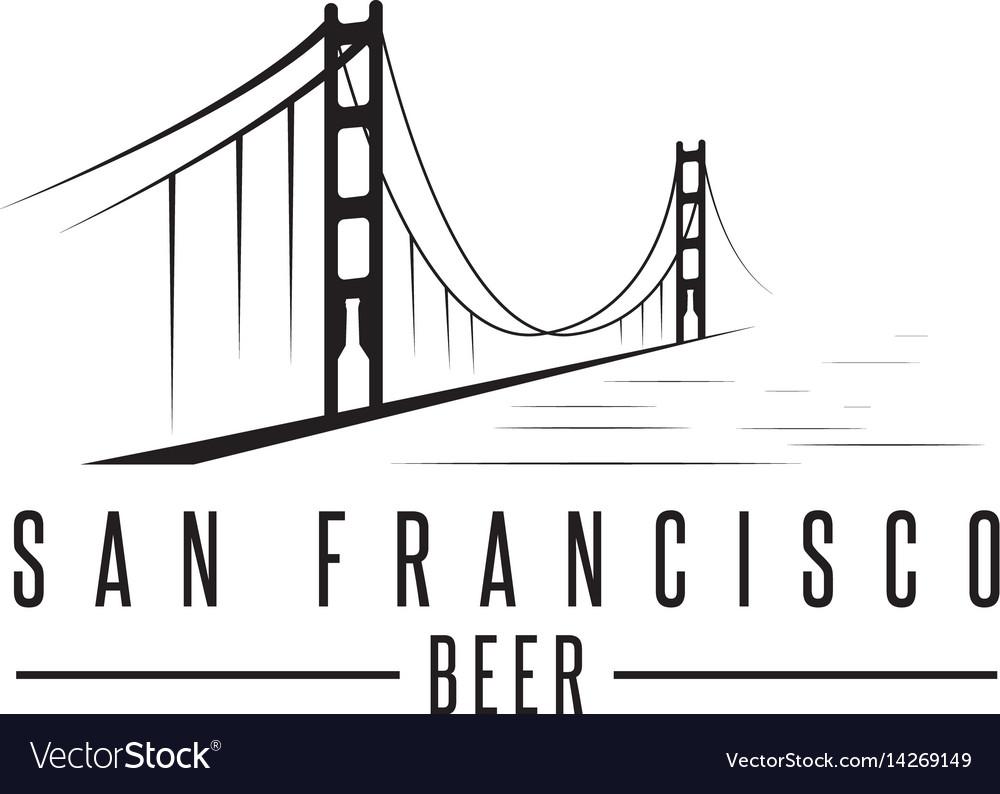 San francisco golden gate bridge with beer