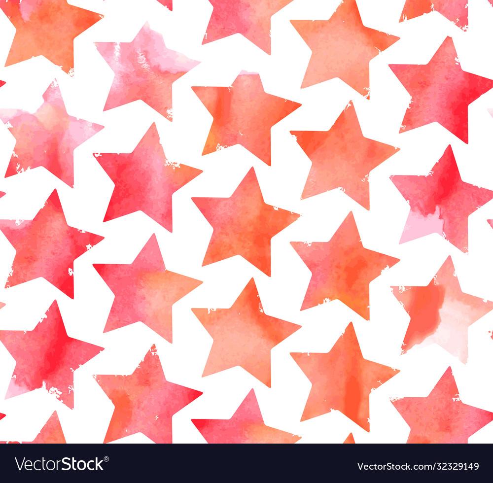 Seamless watercolor stars pattern