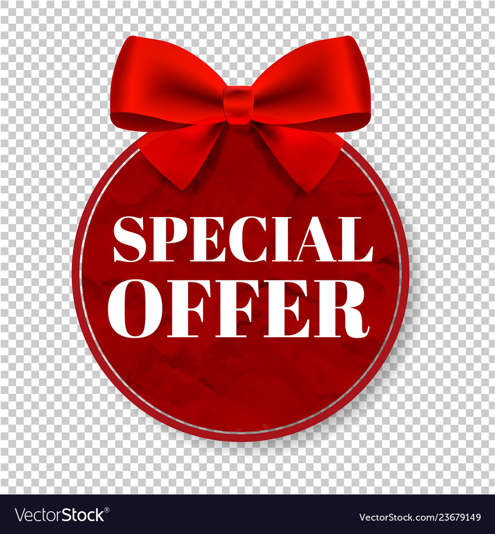 Special Offer Tag Transparent Background Vector Image