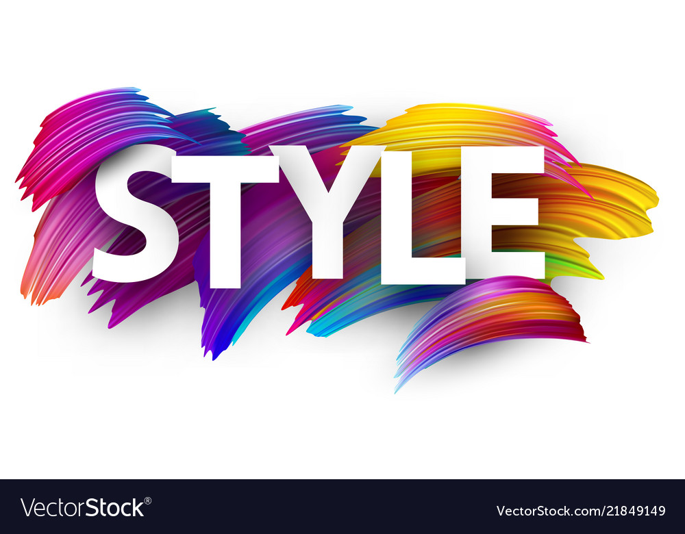 Style paper poster with colorful brush strokes