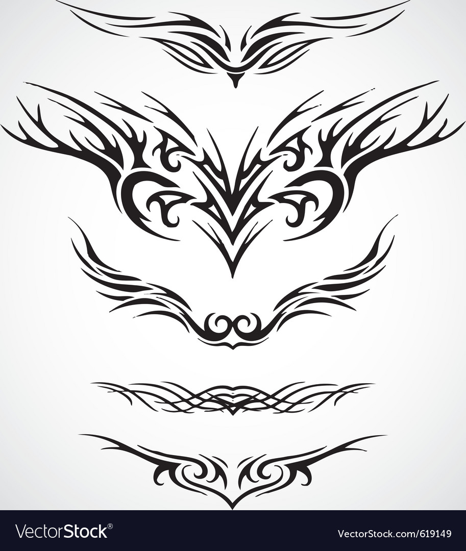 Wings tribal style tattoo design