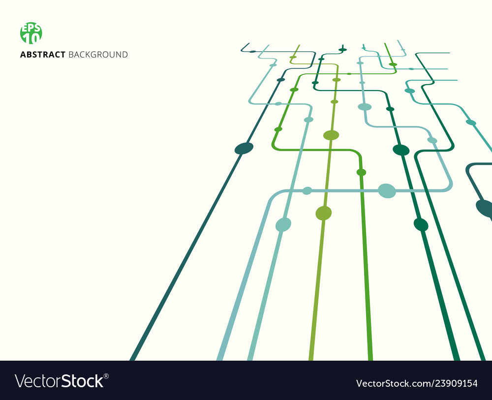Abstract technology perspective background green