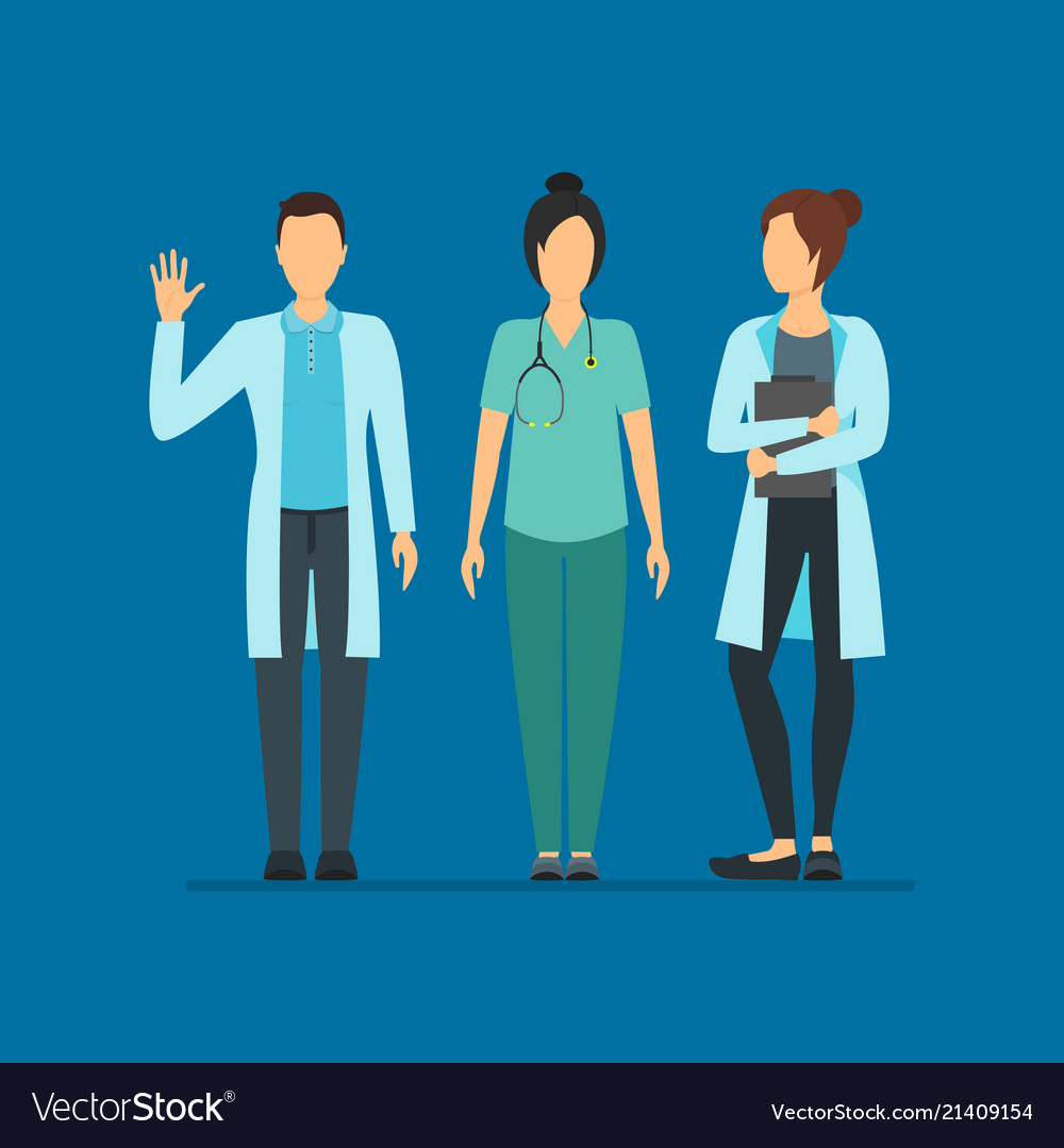 Cartoon doctor characters people