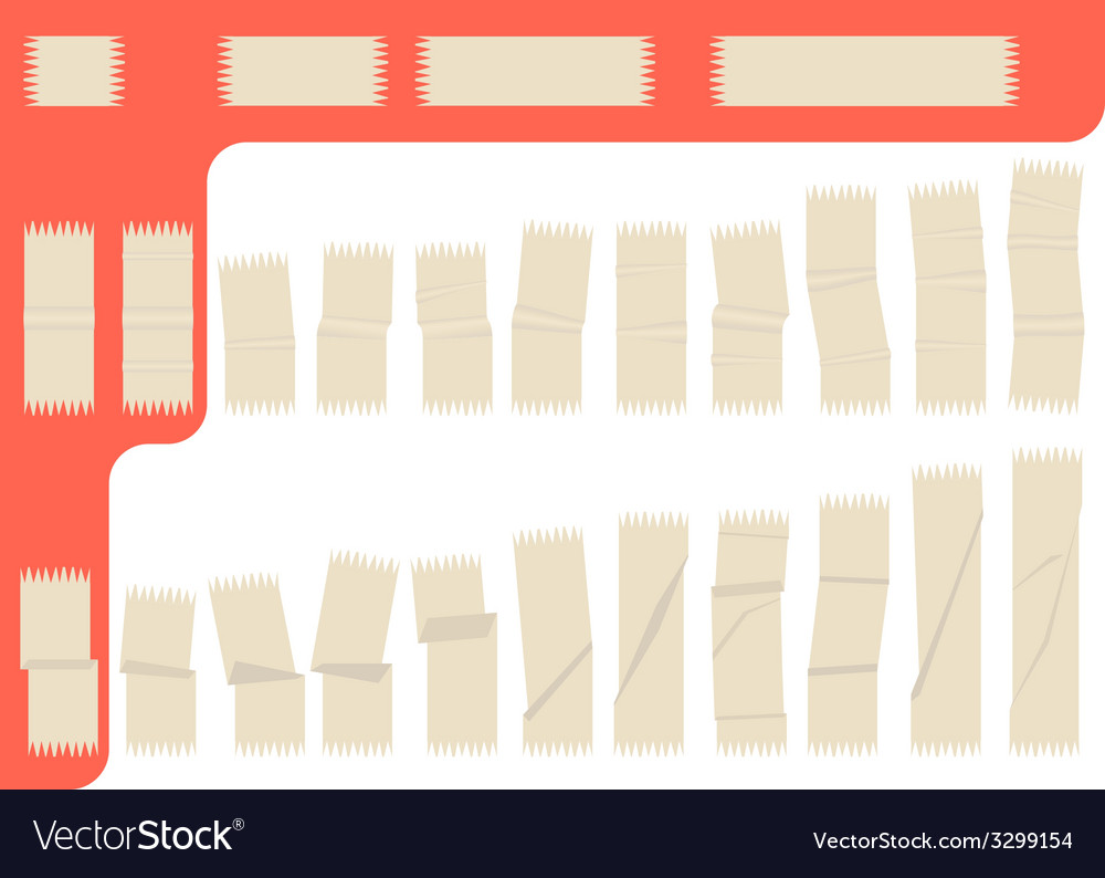 Collection of isolated adhesive tape