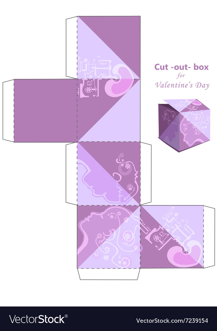 Cut Out Box Vector Image