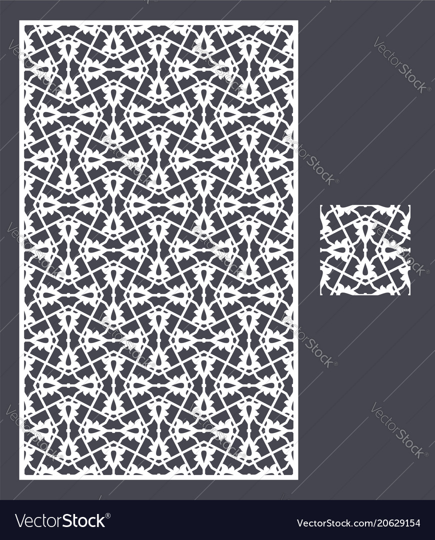 laser cut panel and the seamless pattern vector image