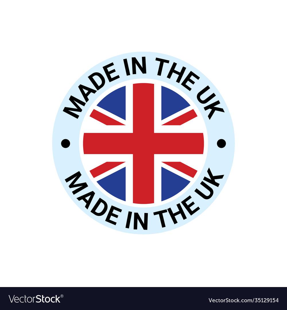 Made in uk britain flag logo english brand