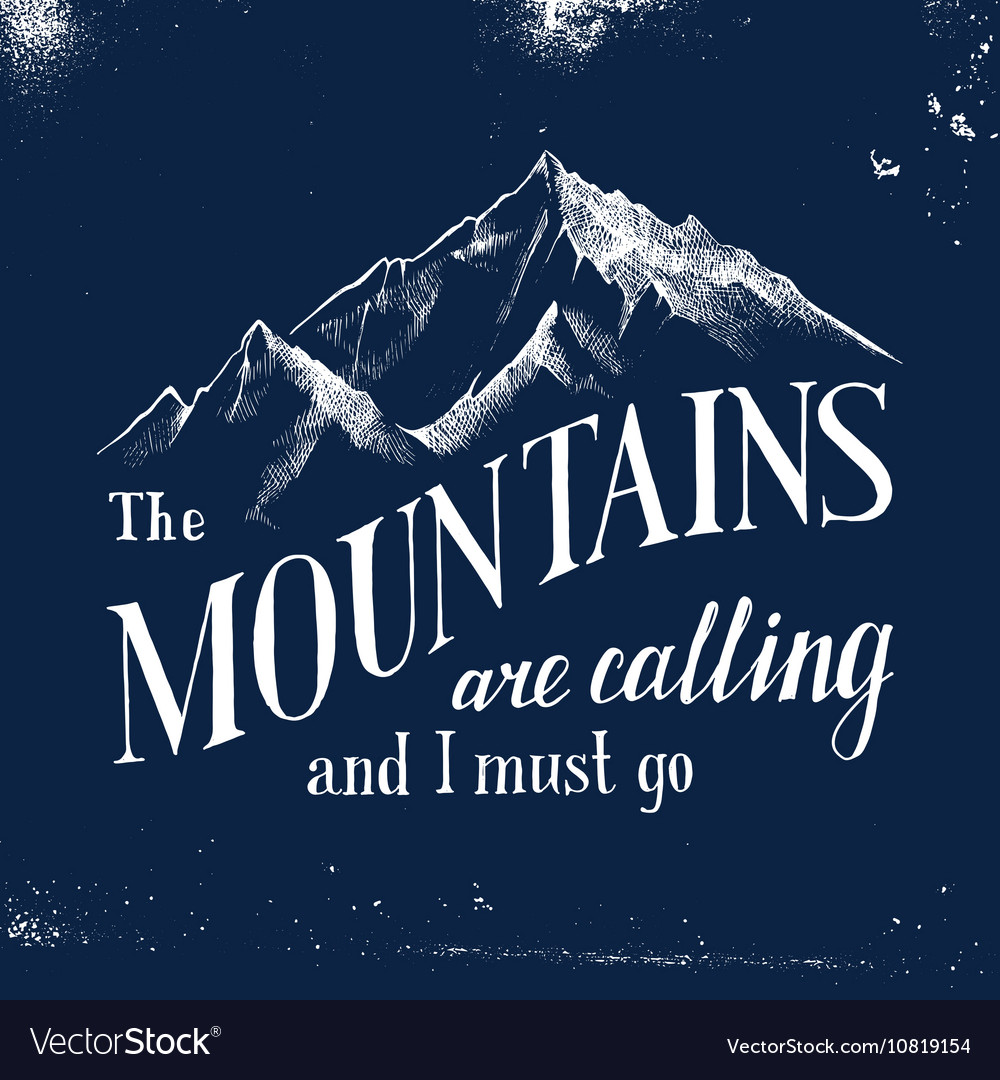 Mountains are calling and I must go - emblem