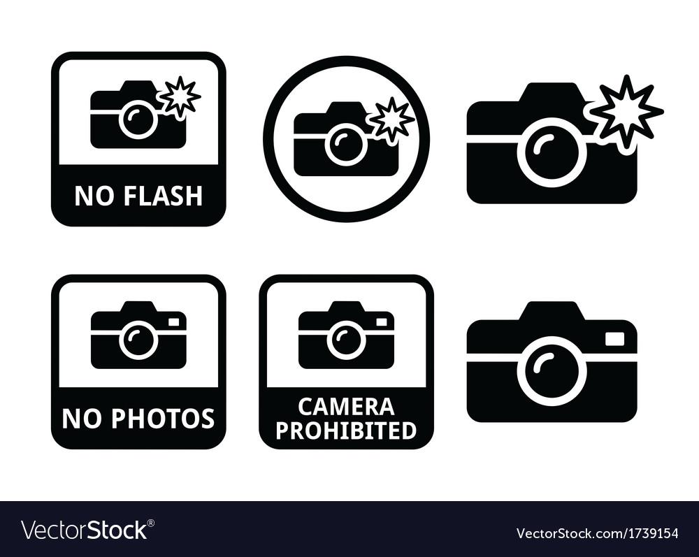 No photos no cameras no flash icons