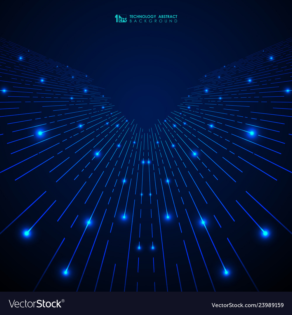 Abstract blue gradient technology stripe lines