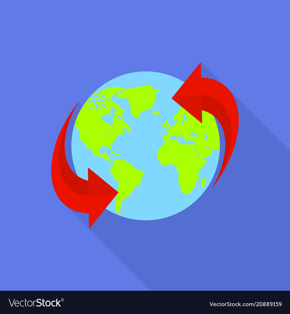 Around the world icon flat style