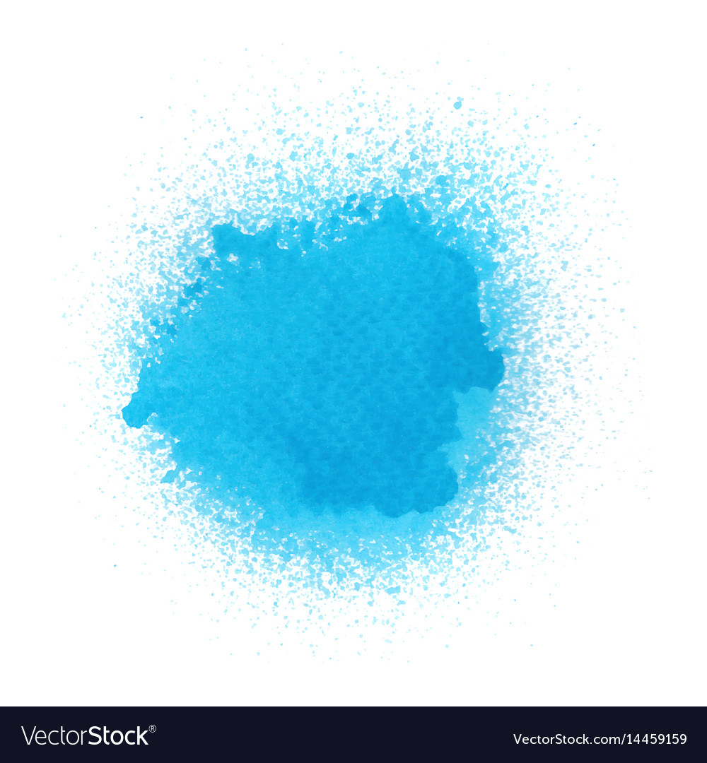 Blue Spray Paint On White Background Royalty Free Vector