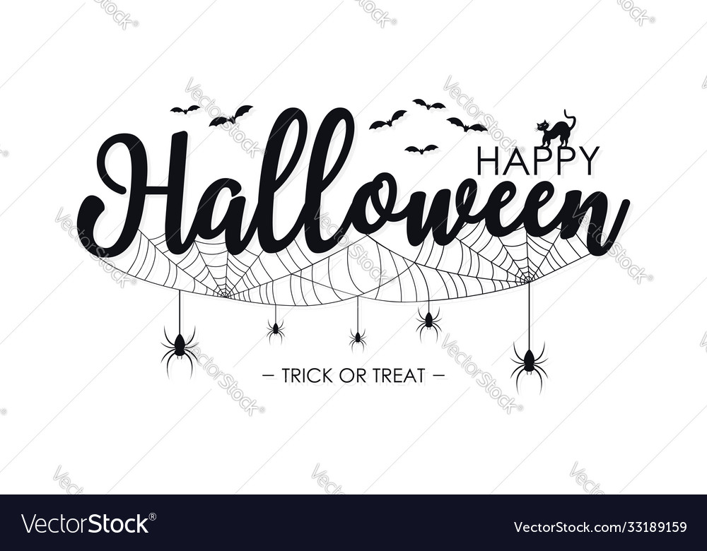 Happy halloween lettering for text banner