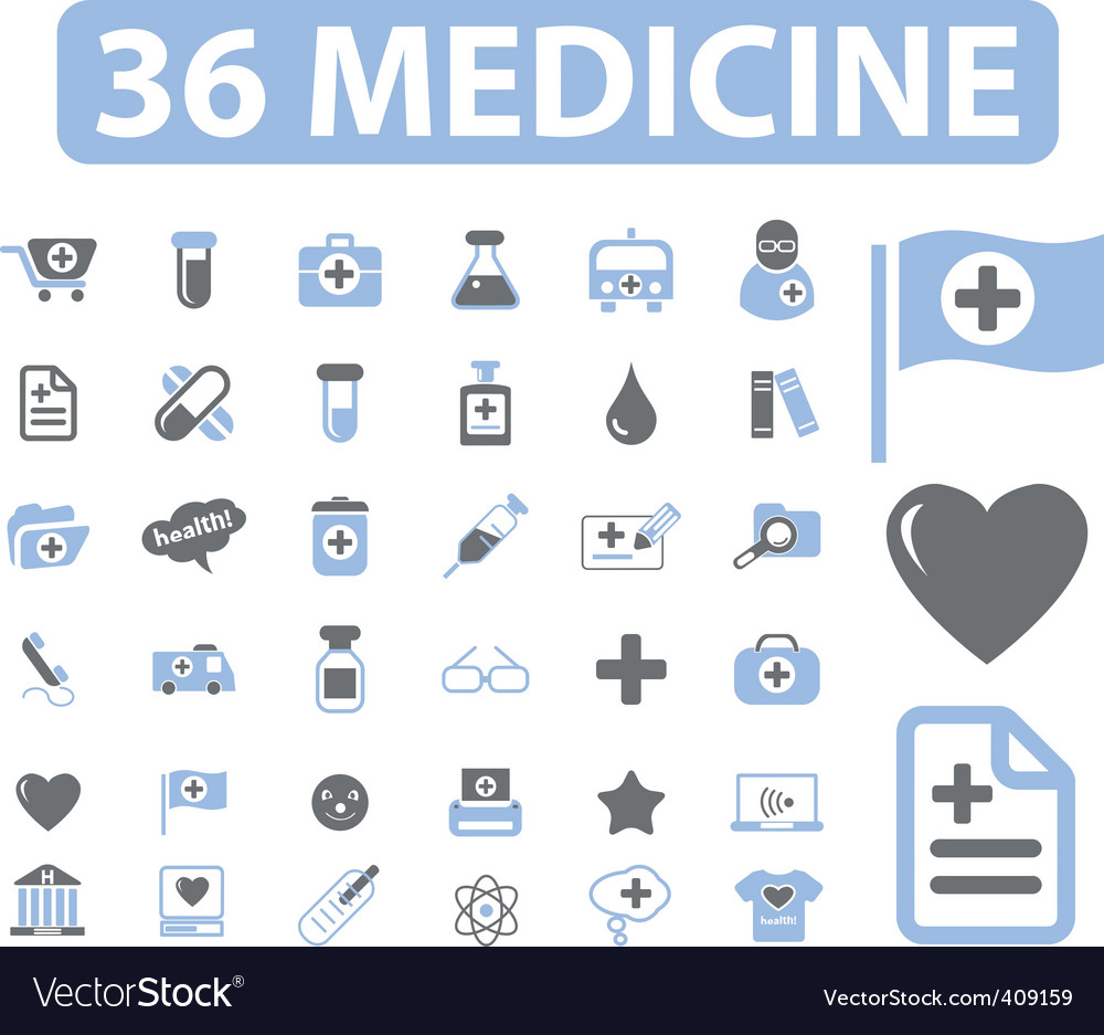Medicine web signs vector image