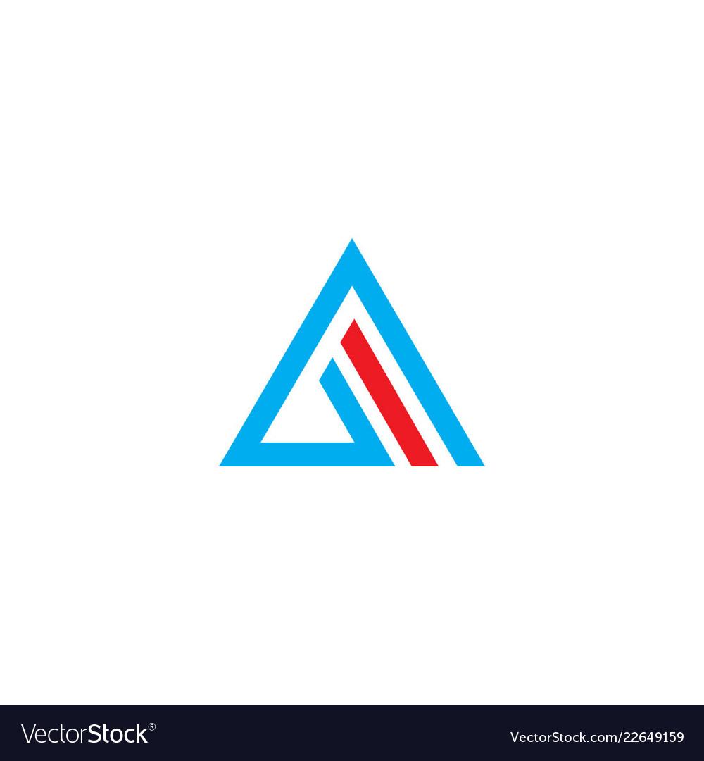 Triangle abstract line company logo
