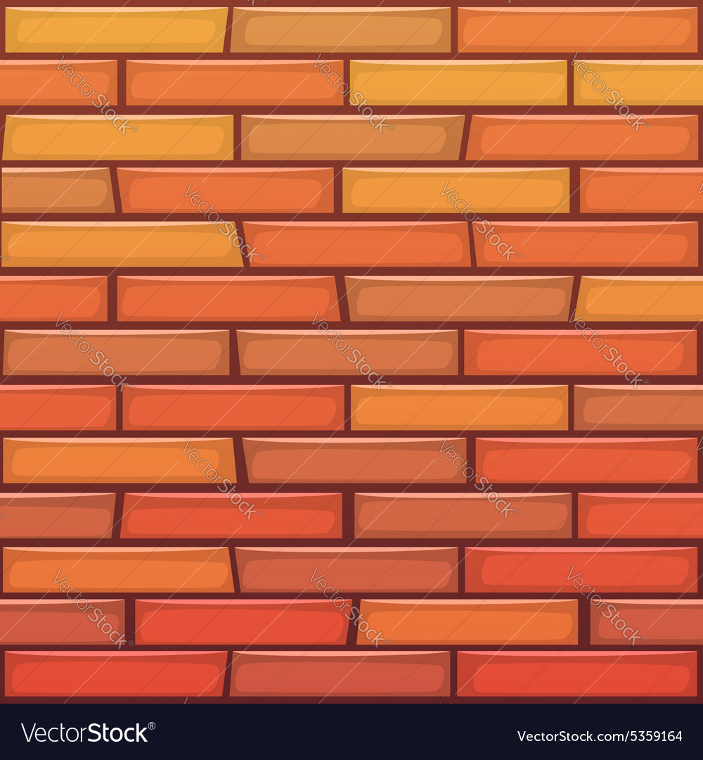 cartoon brick wall royalty free vector image vectorstock rh vectorstock com cartoon brick wallpaper cartoon brick wall texture