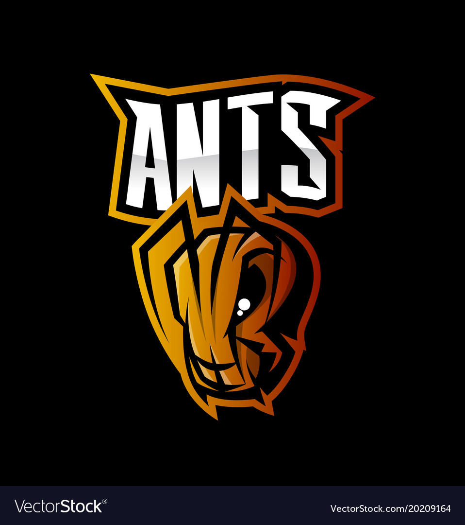 Furious ant sport logo concept isolated on