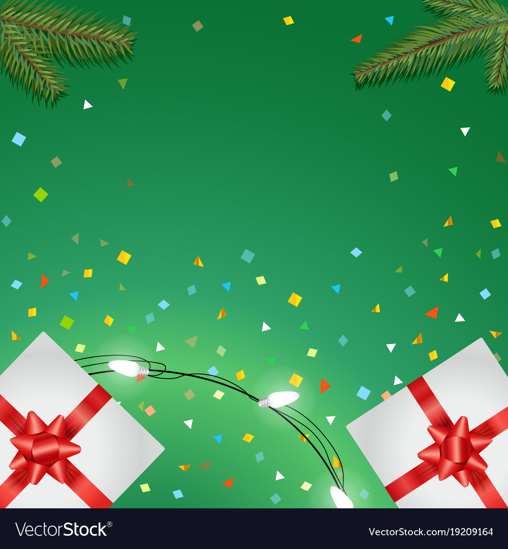 Holiday greeting card templete happy holidays vector image