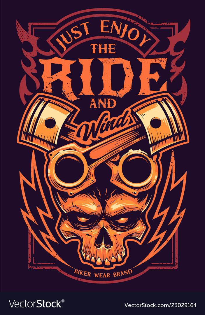 Just enjoy the ride biker art