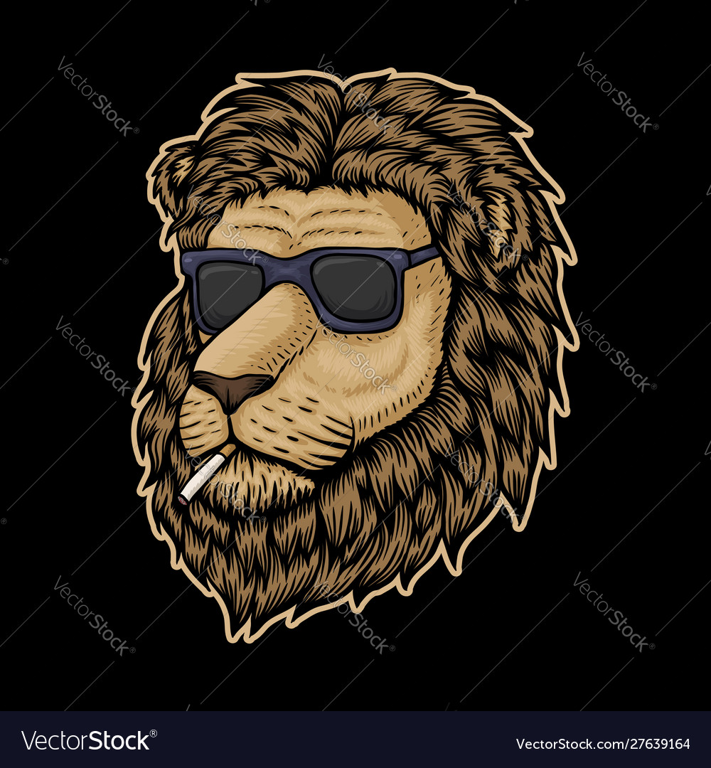 Lion head smoke