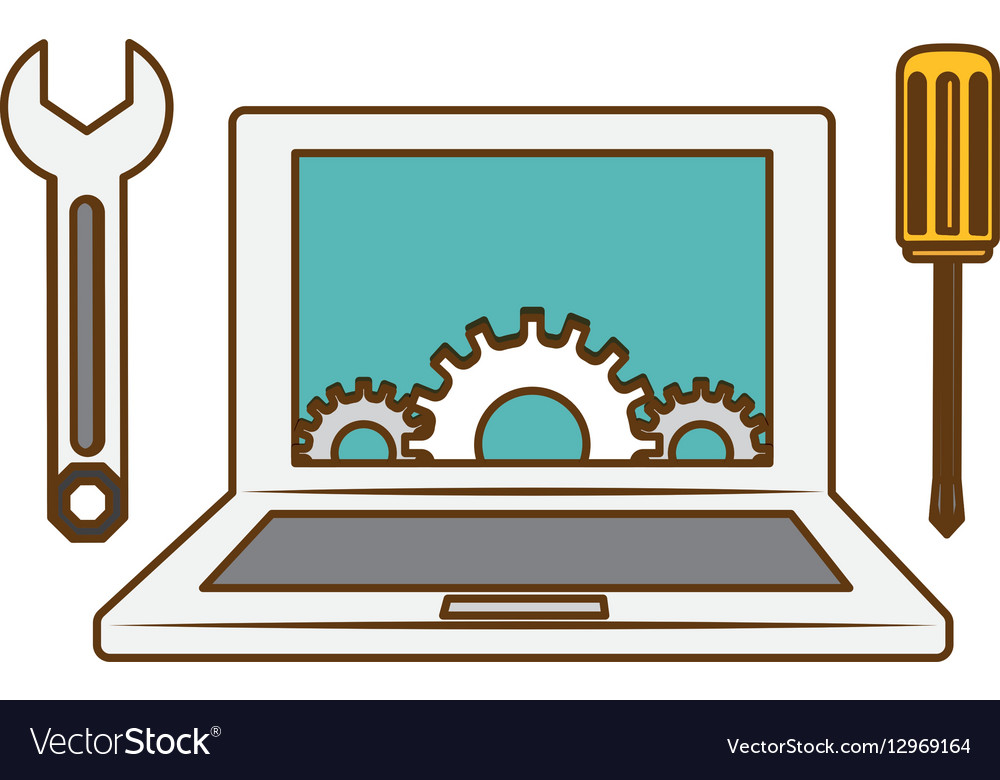 Online technical service abstract image