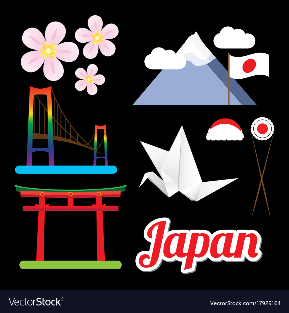 Set greatest japan symbols