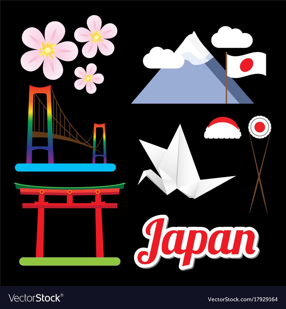 Set of greatest japan symbols