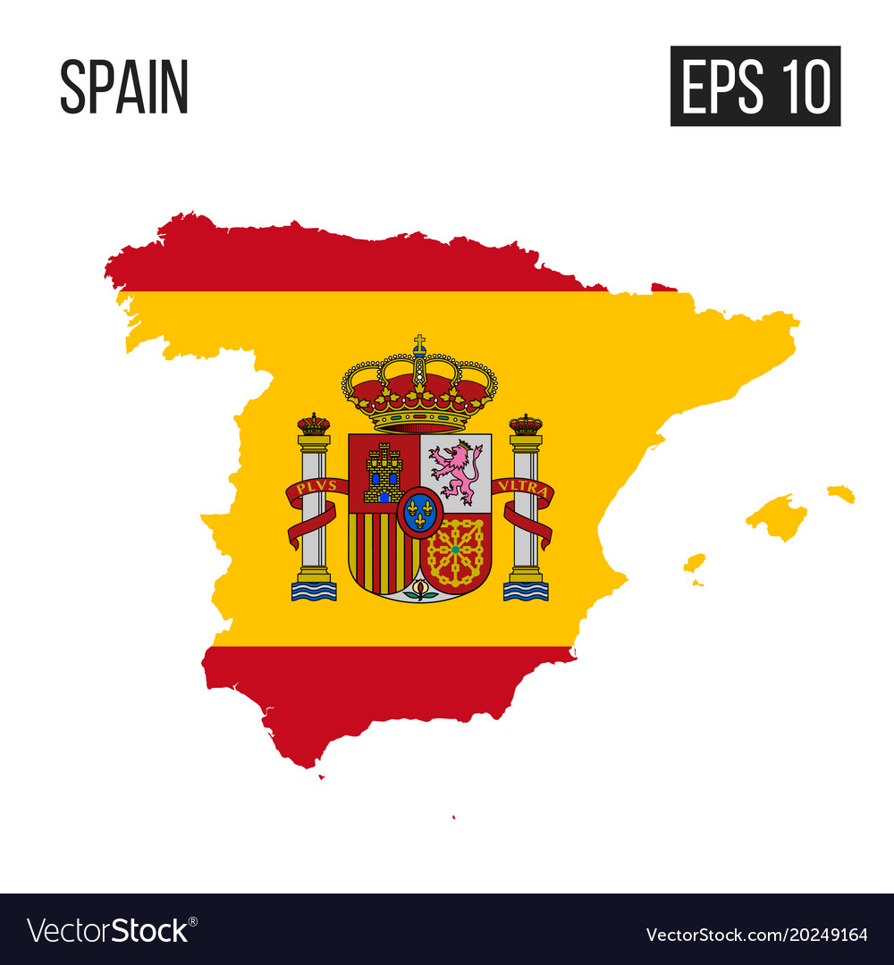 Spain Map Flag.Spain Map Border With Flag Eps10 Vector Image On Vectorstock