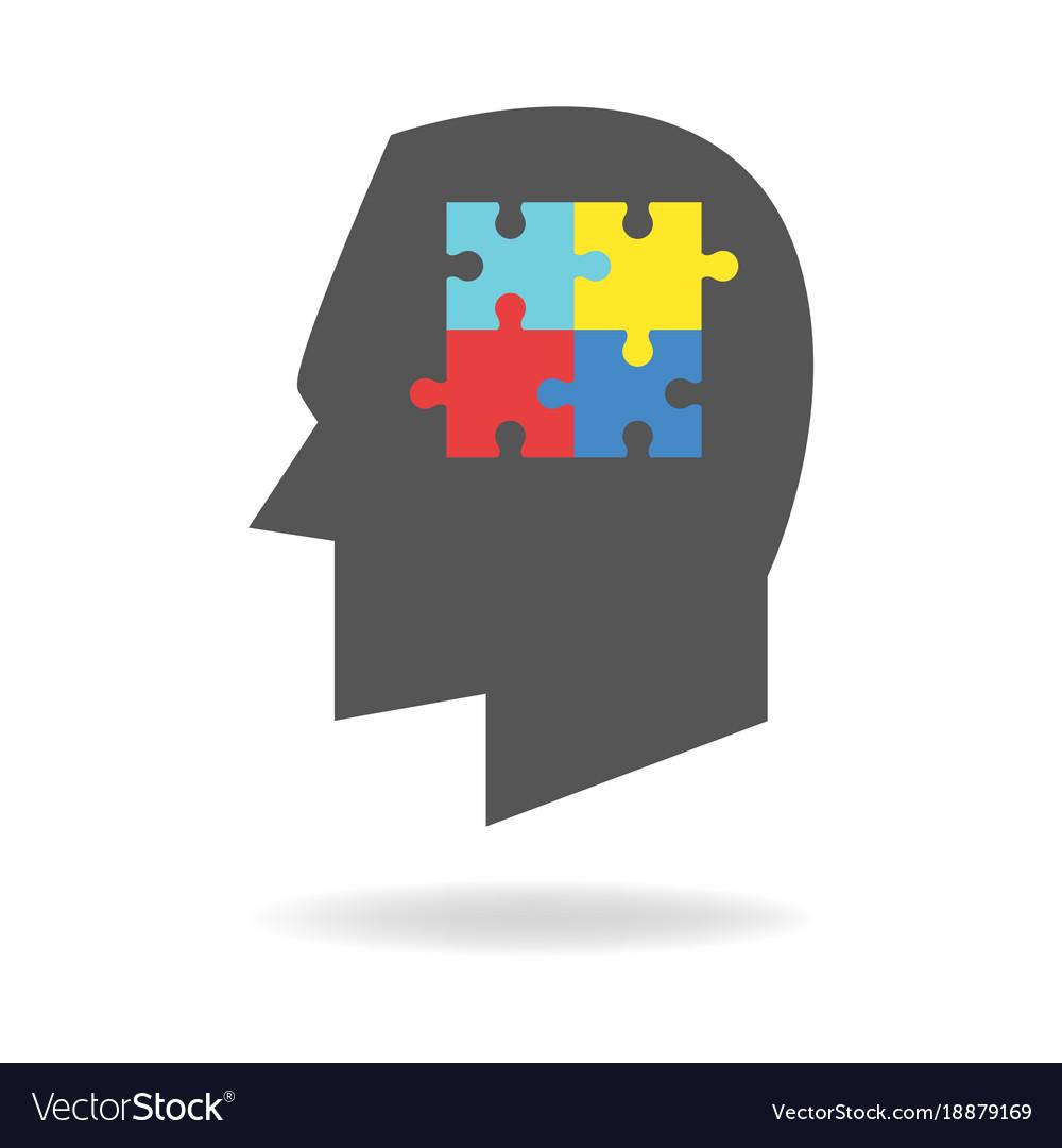 Autism mind icon