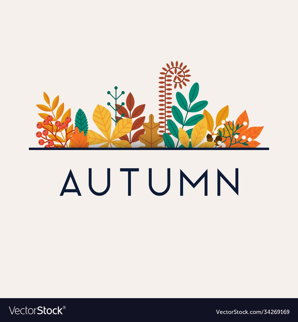 Autumn leafs on background flat design