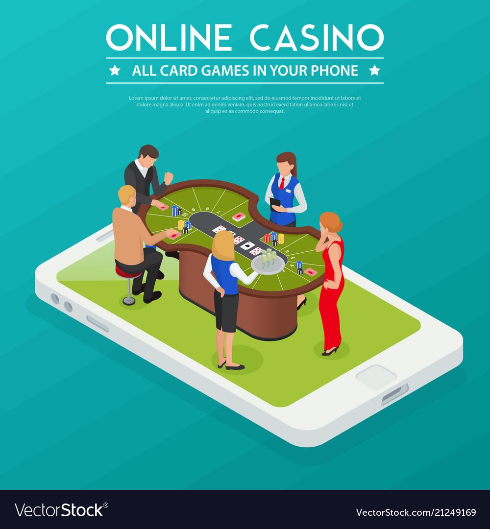 Casino online isometric composition