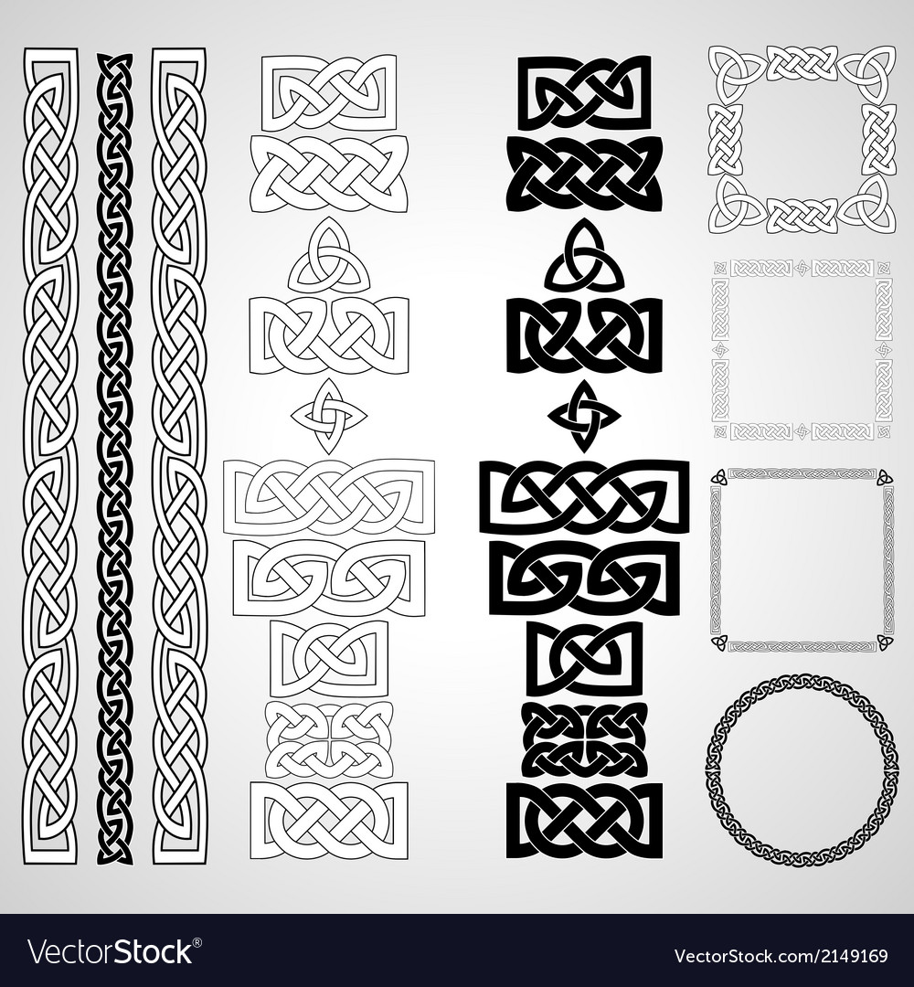Celtic knots patterns frameworks