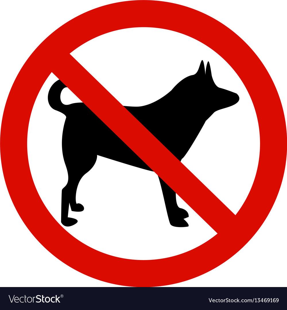 forbidding signs no dog or pets royalty free vector image
