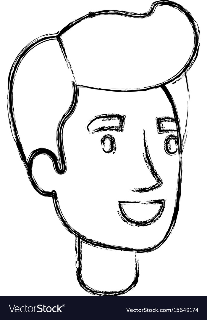 Blurred Silhouette Of Man Face With Pompadour Hair
