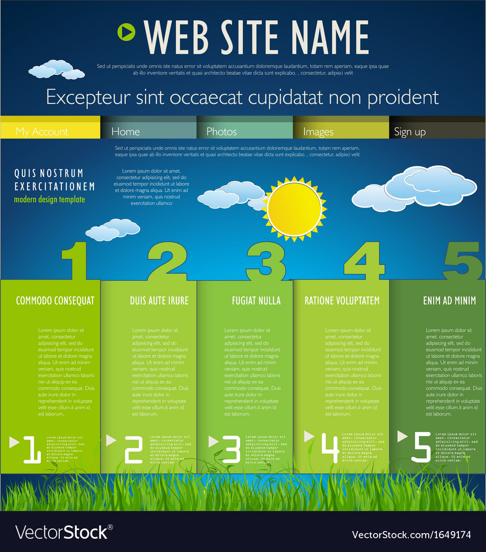 Modern nature web site design template vector image