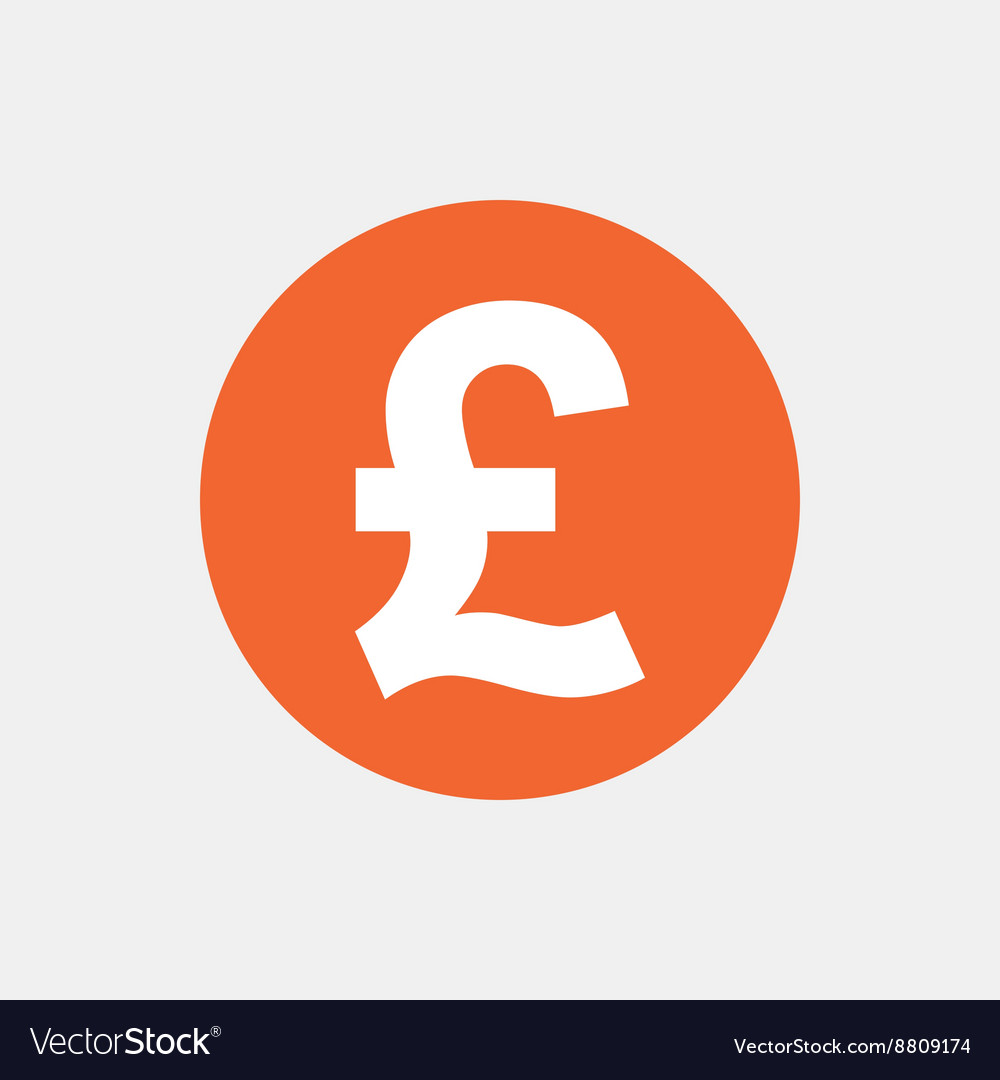 Pound Sign Icon Gbp Currency Symbol Royalty Free Vector