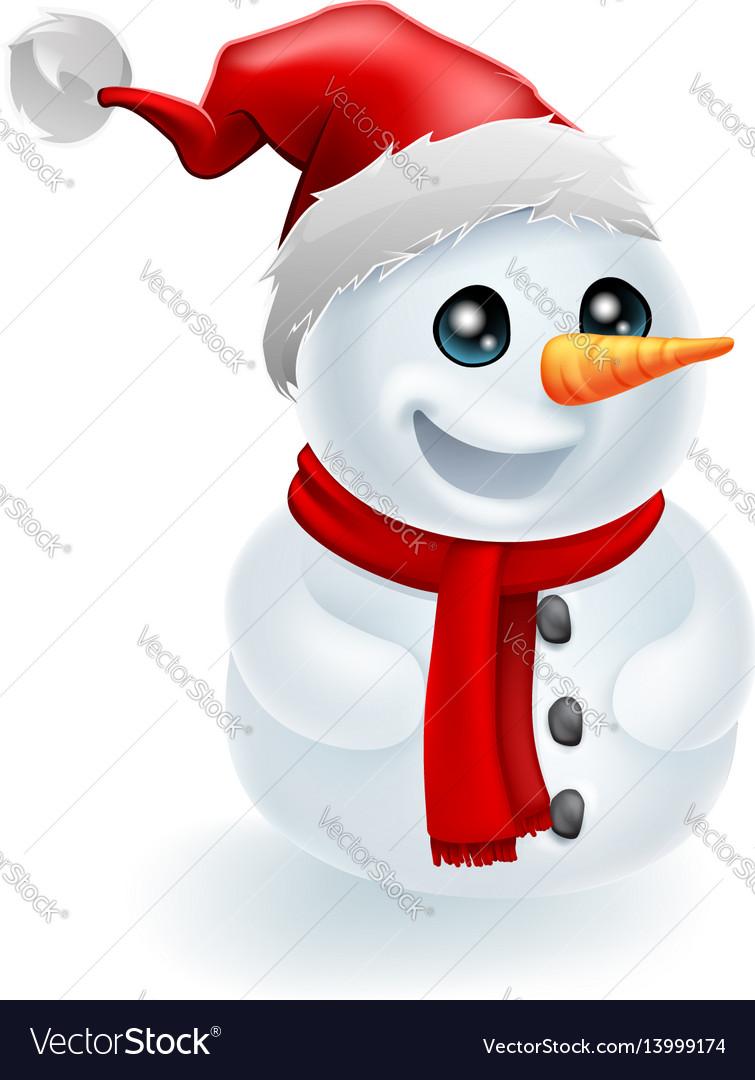 008b94c66cf3a Santa hat christmas snowman Royalty Free Vector Image