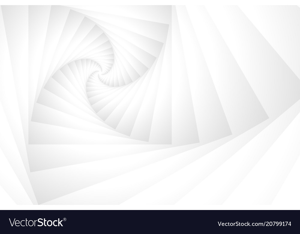 White stack spiral tunnel abstract background