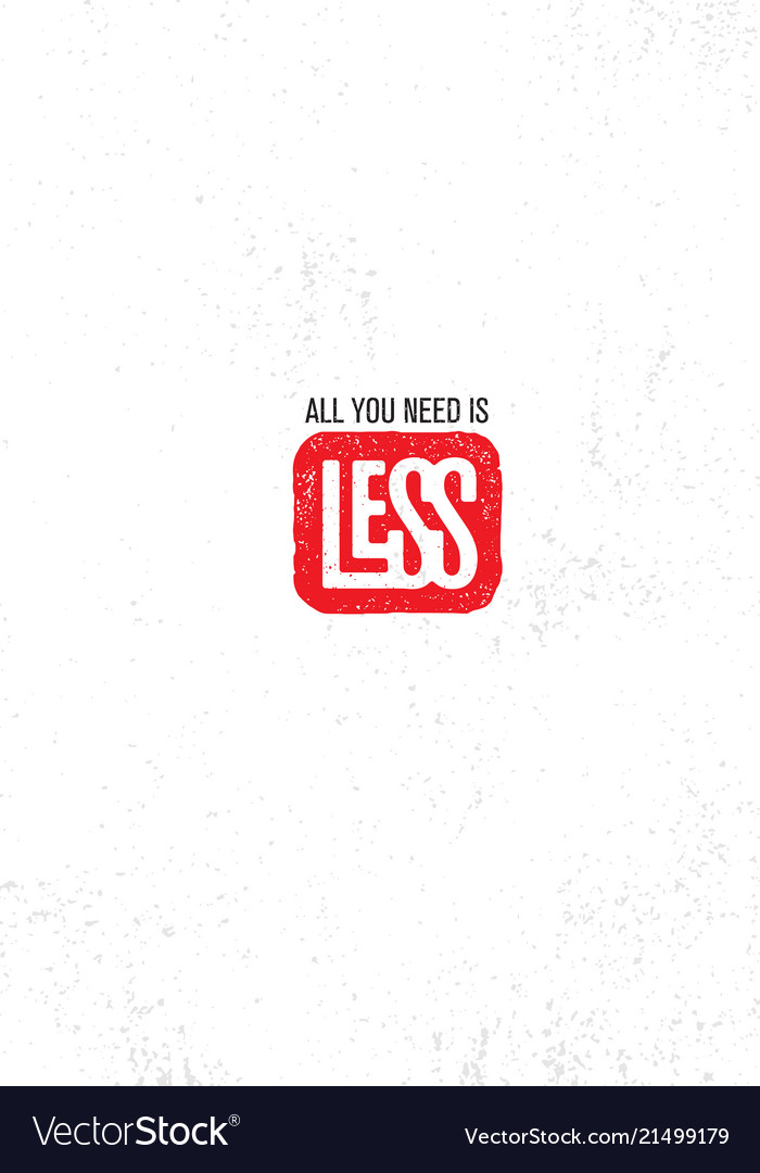 All you need is less inspiring creative